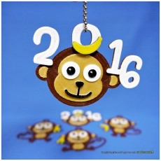 2016 HAPPY CHINESE NEW YEAR-YEAR OF The MONKEY Keychain / Magnets