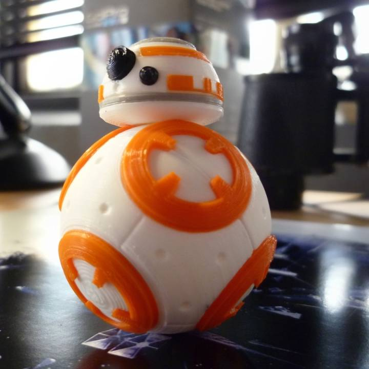 image about Bb 8 Printable called 3D Printable Star Wars The Strain Awakens - BB8 via Fabio Bautista