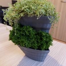 Small stackable planter for creating vertical garden