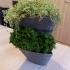 Small stackable planter for creating vertical garden image