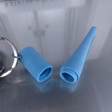 Tapered Cone Container Keychain