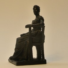 Picture of print of Seated Woman at The Fine Arts Museum in Brussels,