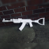 AK47 from Rust print image