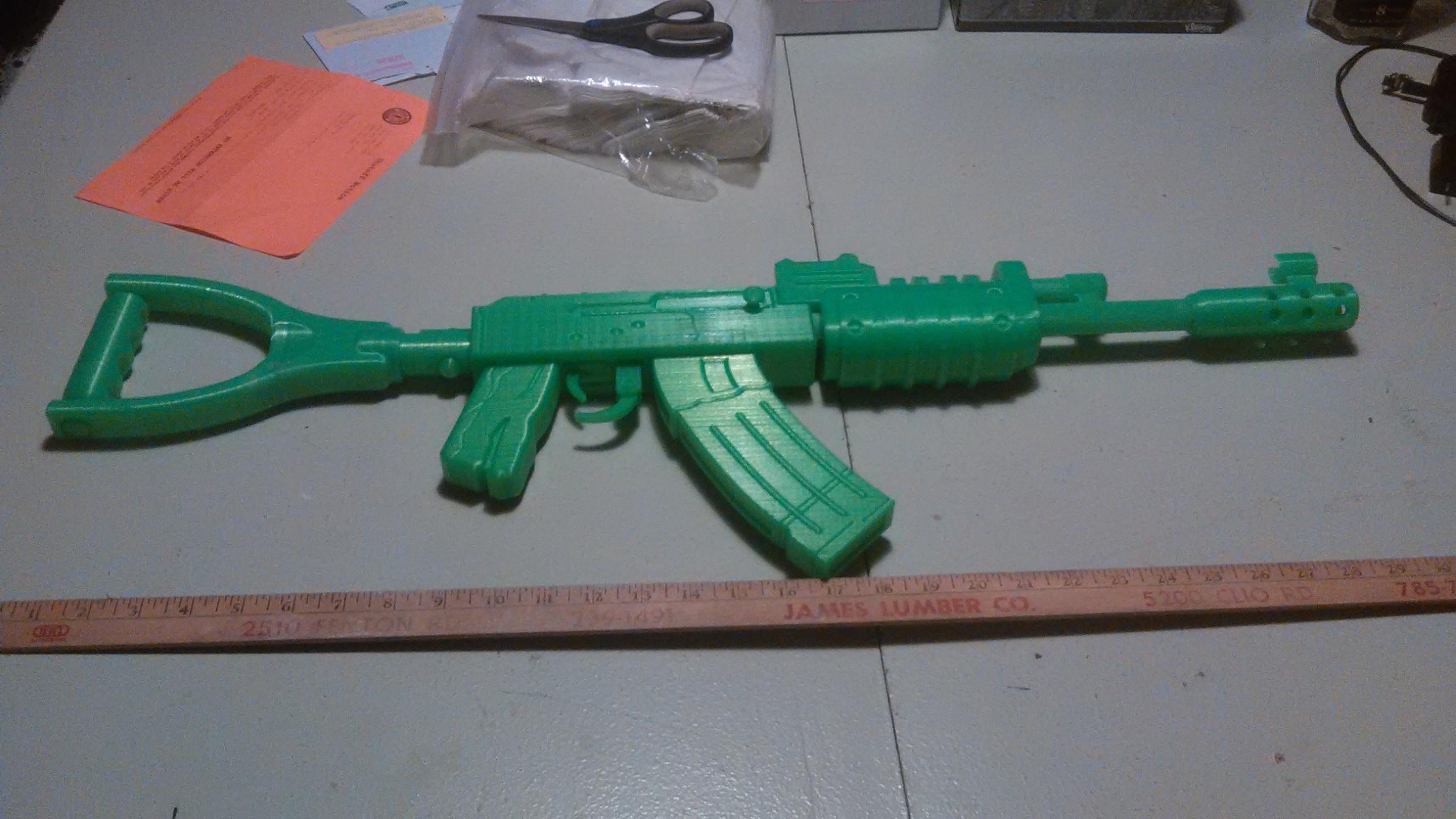 3D Printable AK47 from Rust by Sergey Kolesnik