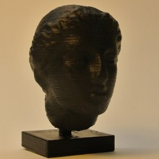 Picture of print of Female Head at The British Museum, London