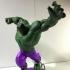 Hulk Statue by Fabio's Art box print image