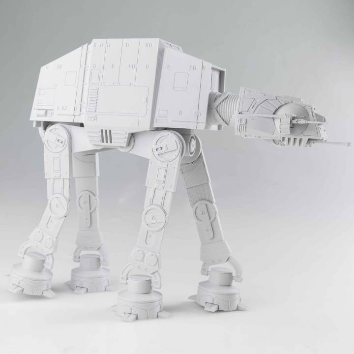 Detailed AT-AT from Star Wars Scale 1:75