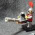 Gatling gun building brick print image