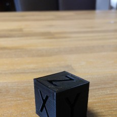 Picture of print of XYZ 20mm 3D printer Calibration Cube