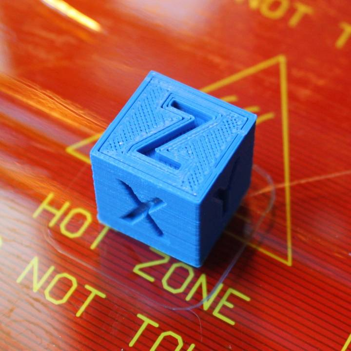 XYZ 20mm 3D printer Calibration Cube