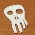 A skull logo image