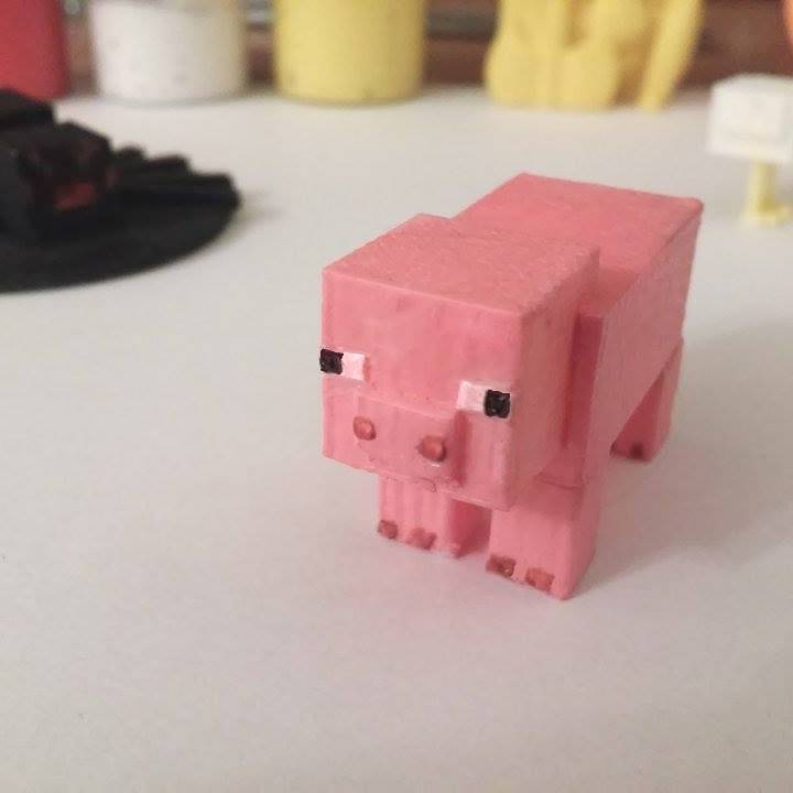 Minecraft well-scaled pig