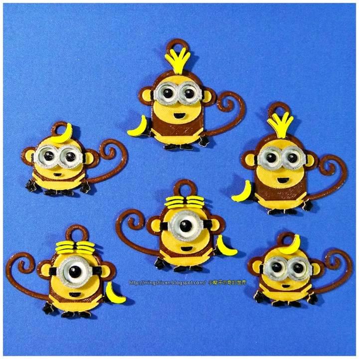Monkey Minions Keychain / Magnets