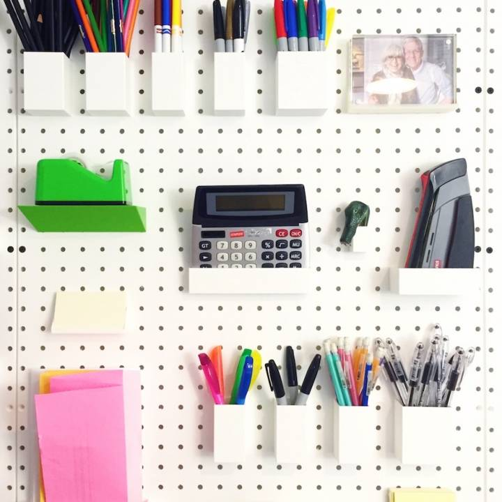 3D Printable Manhattan Pegboard Collection For 3D Printers