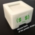 Money bank of the printer shape image