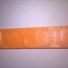 Picture of print of Personalised USB flash drive - 3D printed I LOVE YOU shaped