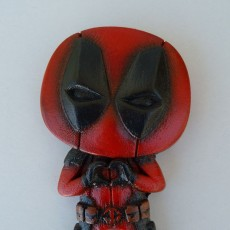 "Picture of print of Deadpool ""Feel The Love"" Magnet"