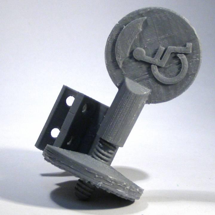 Umbrella holder for wheelchair - version2