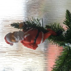 Picture of print of Santa Tree Hugger Ornament Christmas Decoration
