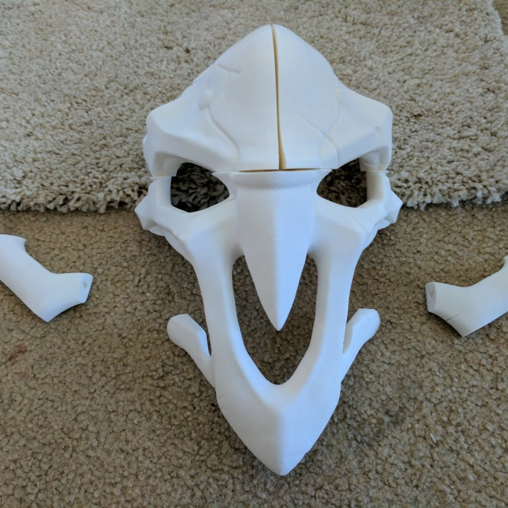 Picture of print of OverWatch's Reaper Mask! This print has been uploaded by Tim Carll