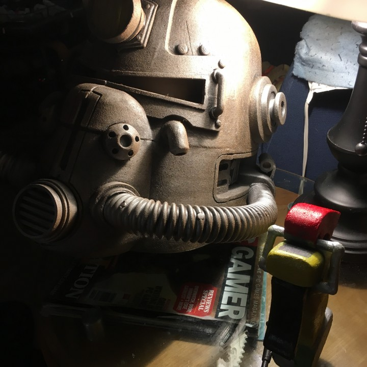 Picture of print of Fallout 3 - T51-b Power Armour Helmet This print has been uploaded by gregory smith