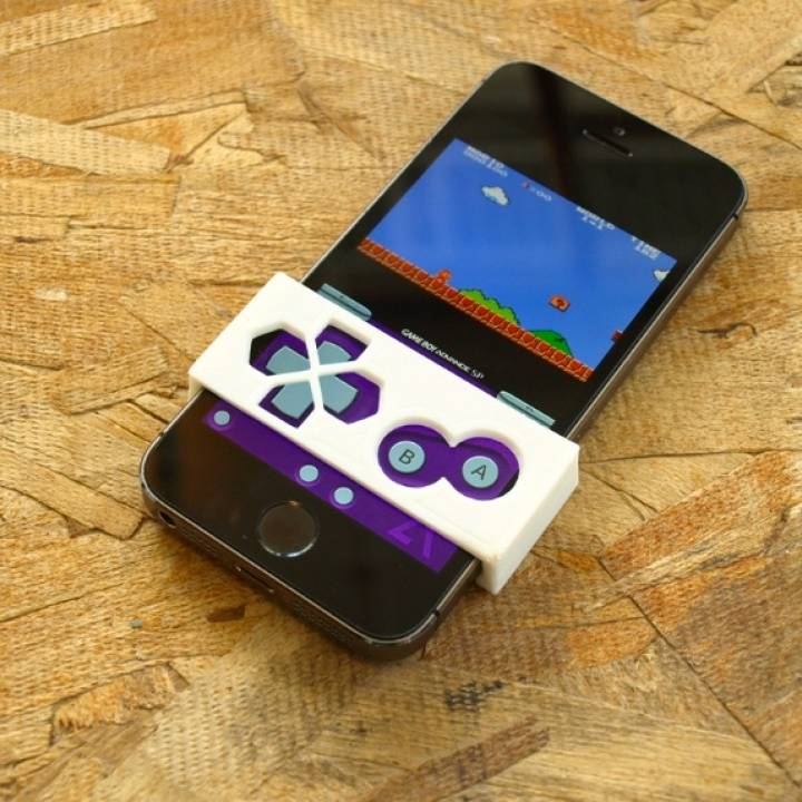 3D Printable Gameboy Button Faceplate For iPhone   GBA4iOS by 3D