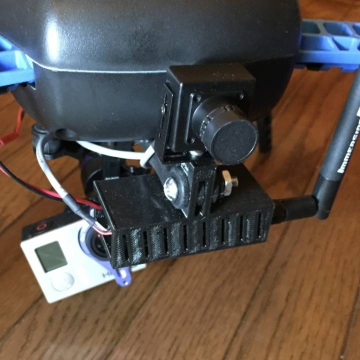 FPV camera and transmitter mount for 3DR Iris