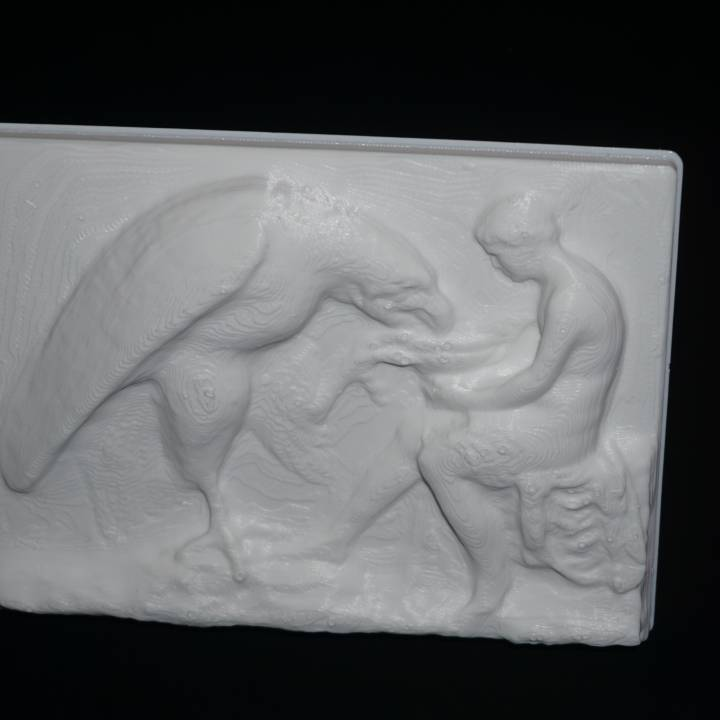 Relief depicting Ganymede and the Eagle at The State Hermitage Museum, St Petersburg
