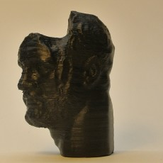 Picture of print of Head of a Bearded Man at the Getty Villa, Los Angeles