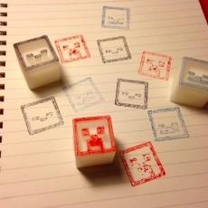 Minecraft stamp blocks
