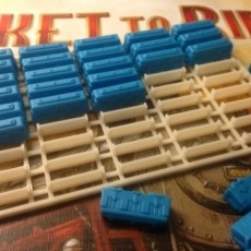 Ticket to Ride  trains tray