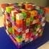 Level 4 Menger sponge built out of 400 Level 2 Menger sponges image