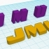 James Madison University 3D cube and logo letters image