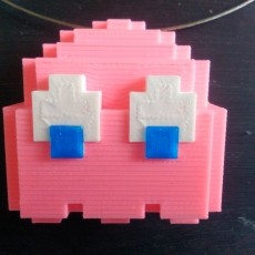 Pacman Ghost Pendant