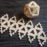 Customizable hinge/snap Icosahedron net image