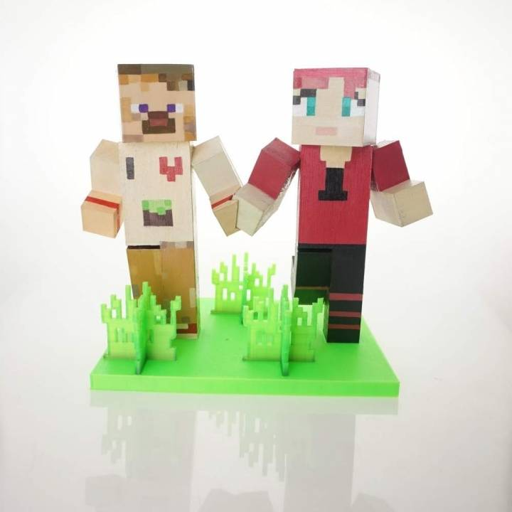 picture regarding Printable Diorama named 3D Printable Minecraft Diorama by means of Simone Fontana