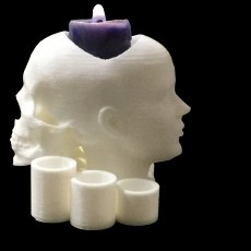 2 headsmulti-candle holder