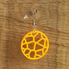Earrings Voronoi 1