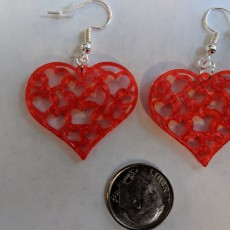 Picture of print of Earrings hearts 1.3