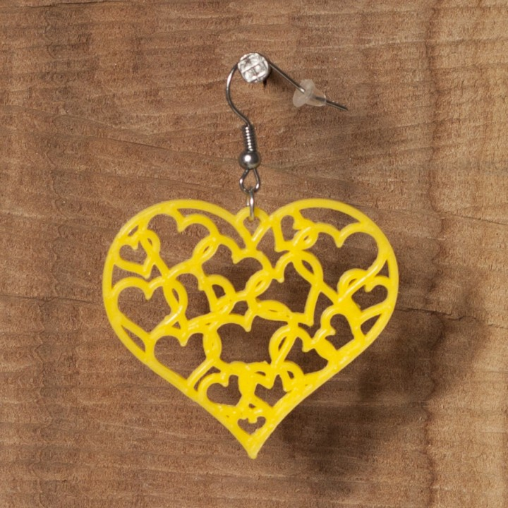 Picture of print of Earrings hearts 1.3 This print has been uploaded by Michal Fanta