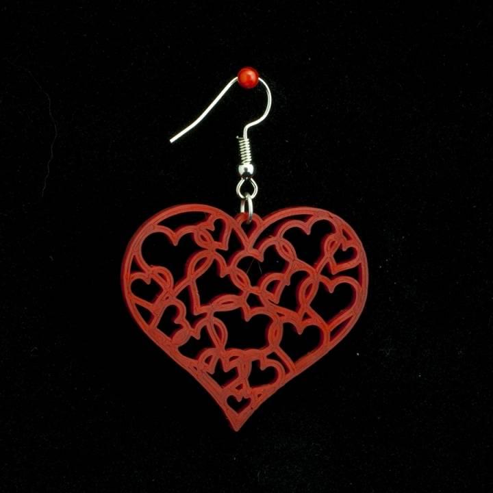 Earrings hearts 1.3