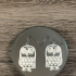 Earrings owl 1 print image