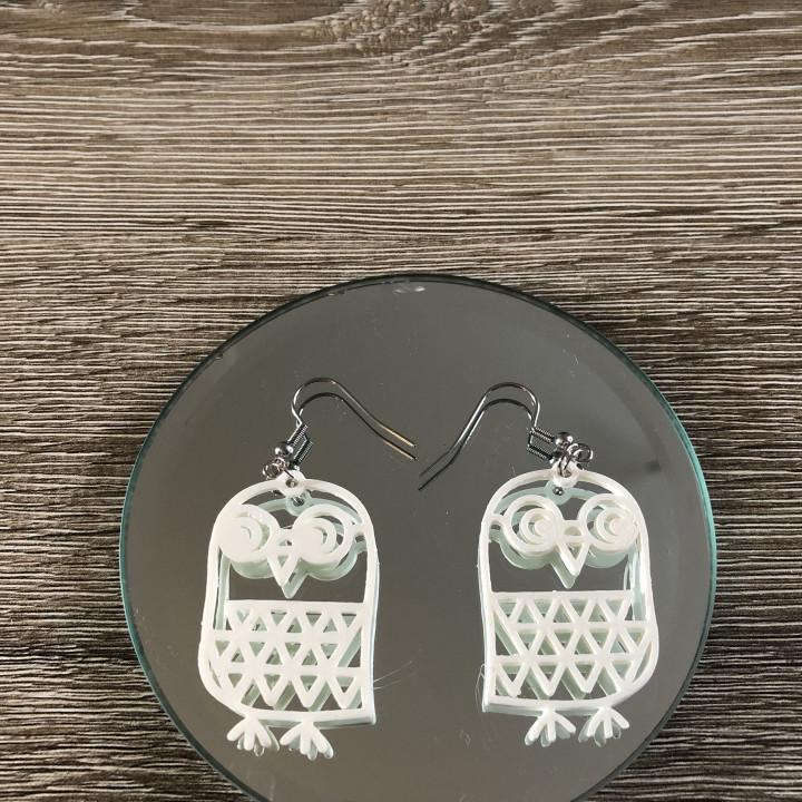 Earrings owl 1