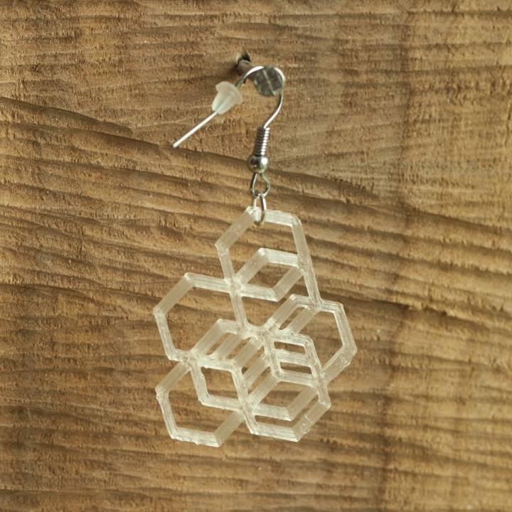 Earrings hexagon 2