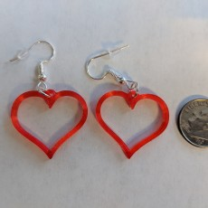 Picture of print of Earrings hearts 1.1