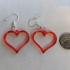 Earrings hearts 1.1 print image