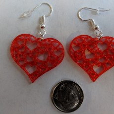 Picture of print of Earrings hearts 1.4