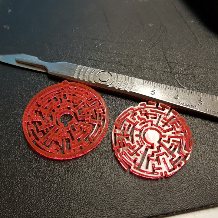 Picture of print of Earrings theta maze 1.1 This print has been uploaded by Mark Craig