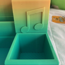 Picture of print of Desk Organizer w/music notes