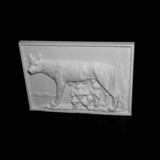Capitoline Wolf Bas-Relief in Deva, Romania